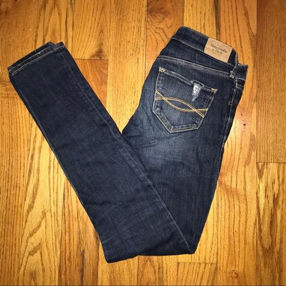 Abercrombie & Fitch Denim - Abercrombie Distressed Skinny Jeans